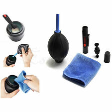 Lens Cleaning Cleaner Dust Pen Blower Cloth Kit Set DSLR VCR Canon 3 in 1