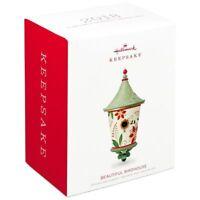 Hallmark Keepsake 2018 Poinsettia Beautiful Birdhouse Ornament