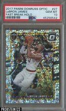 2017-18 Donruss Optic Fast Break Holo LeBron James Cavaliers PSA 10 GEM MINT