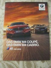 2019 BMW M4 Coupe & M4 Cabrio Full Brochure Prospekt Deutsch German Competition