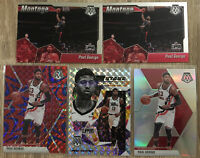 PAUL GEORGE 2019-20 MOSAIC SILVER + Reactive Blue + Stare Masters + 2 Montage