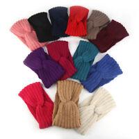 Women Turban Knitted Bow Knot Headband Hair Band Woollen Yarn Casual Lady Girl