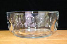 Arcoroc France Clear Crystal Large Serving Bowl Thumbprint Petale