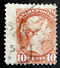 CANADA - 1877 : Queen Victoria 10 cents dull rose , Scott #40
