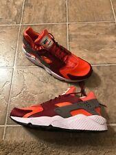 ee865a14 Nike Air Huarache мужская размер 11.5 Дымок из ствола/красный/коралл  318429-054