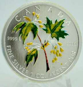 1 OZ Silber Maple Leaf Canada 2003 color Lagerräumung