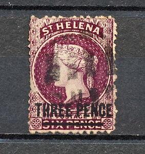(NNAL 045) St Helena 1868 USED LONE 14 1/2 MICH 7AI