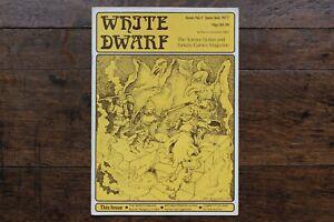 White Dwarf Issue No. 1 June July 1977 1st Reprint November 1978 WD D&D Rare UK