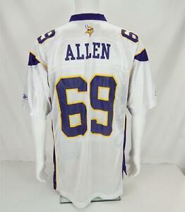 Reebok NFL On Field Jersey Jared Allen Minnesota Vikings White Men's Large