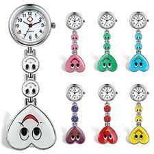 Lancardo Candy Color Smile Heart Face Nurse Clip Watch Medical Lapel Pocket Clas