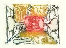 LEDDI Piero, Interno d'autobus. Acquaforte acquatinta a colori 1960