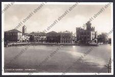 BRESCIA SIRMIONE 68 HOTEL ALBERGHI LAGO di GARDA Cartolina VIAGG 1933 REAL PHOTO