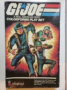 GI Joe Real American Hero Colorforms Complete Play Set w Box 659 Playboard 1982