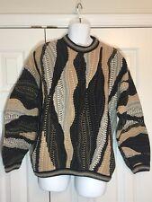 TUNDRA Mens L Sweater Cosby textured VTG Canada coogi biggie Multi-Color EUC