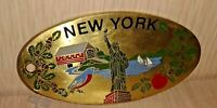 1987 Solid Brass New York Statue of Liberty Medal