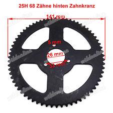 25H 68 Zähne hinten Zahnkranz für 47cc 49cc Minimoto Pocket Bike Mini ATV