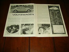 1960 VOLKSWAGEN VW BEETLE BUG ***ORIGINAL ARTICLE***