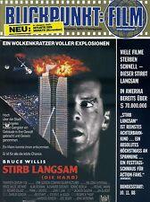 Blickpunkt Film Nr. 41 1988 13. Jahrg. Bruce Willis Stirb Langsam