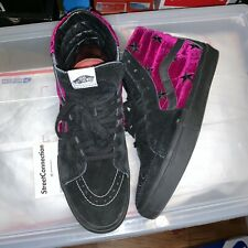Supreme Velvet Stars Vans Sk8 Hi Era Pro Size 10.5 Used Worn Box Logo Black Pink