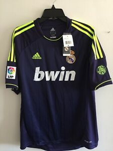Adidas Real Madrid Away 2012-13 soccer jersey Navy Yellow Size M Men's Only