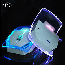 2.4G Wireless Mice Laptop Glowing Gaming Mouse Silent Gamer Transparent LED