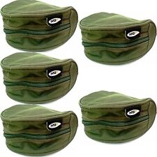 5  Padded Green Reel Cases Bags For Carp Pike Fishing Tackle