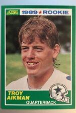 Troy Aiken - Rookie Card - 1989 - Quarterback for Dallas Cowboys