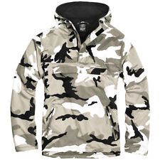 Brandit Military Windbreaker Tactical Hooded Anorak Mens Jacket Urban Camouflage