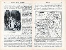 Triberg 1923 kl. orig. Stadtplan, Karte + frz. Reisef. (10 S.) Haslach Hornberg