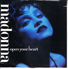 """MADONNA  Open Your Heart PICTURE SLEEVE 7"""" 45 record NEW + juke box title strip"""