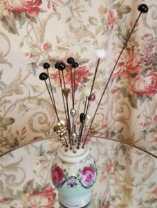 Vintage Millinery  hat pin lot