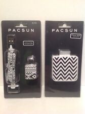Pacsun iphone 4/4S Portable Battery Charger With Wall Adapter & Cord B/W