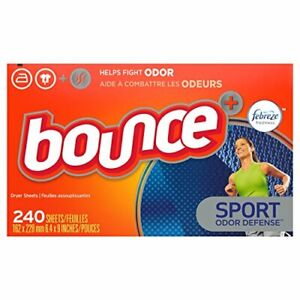 Bounce Plus Febreze Sport Odor Defense Fabric Softener Dryer Sheets 240 Count