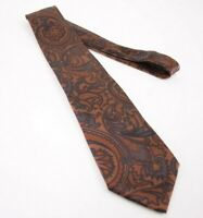 Stefano Ricci Silk Neck Tie in Brown Paisley Design Made in Italy
