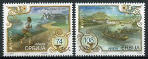 Serbia Europa Stamps 2020 MNH Ancient Postal Routes Services Boats 2v Set