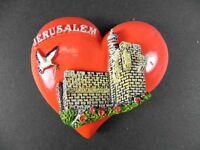 Jerusalem Magnet Souvenir Israel,Herzform rot,neu