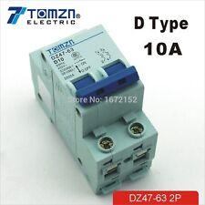 2P 10A D type 240V/415V 50HZ/60HZ Circuit breaker MCB safety breaker