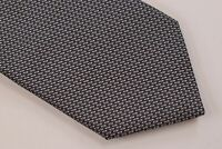 NWT Brioni Neck Tie In Gray Black Hand Made in Italy Pure Silk Luxury $240