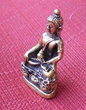 "Small Brass Shakyamuni Buddha Statue for Dharma in Nepal, Tibet 1 1/4"" High"