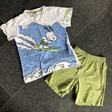 🐶 H&M cooler SNOOPY Schlafanzug Pyjama Set kurz Baumwolle Gr.4-5Y 110 116 122