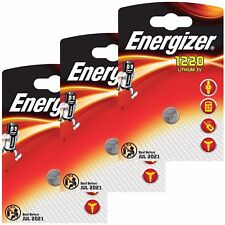 3 x Energizer 1220 3V Lithium Battery Coin Cell CR1220 DL1220 BR1220