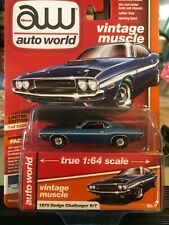 1/64 AUTO WORLD VINTAGE MUSCLE 1970 DODGE CHALLENGER R/T BLUE