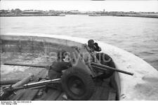 German Army Artillery Denmark Troops 1940 World War 2 Reprint Photo 6x4 Inch