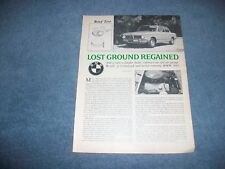 "1973 BMW 2002 Vintage Info Article ""Lost Ground Regained"""