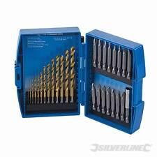 Titanium-Coated HSS Drill Bit & CRV Screwdriver Bit Set 29pce 633843