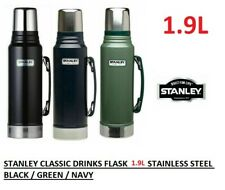 1.9L CLASSIC STANLEY FLASK DRINKS VACUUM BOTTLE LITRE BLACK BLUE GREEN THERMOS