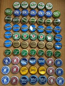 68 Assorted Beer Bottle Caps  blue green BC17