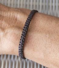 Bracelet brésilien amitié fil coton ciré tresse porte bonheur marron 21157