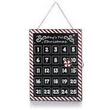 Winter Lane ' DAYS TILL CHRISTMAS Countdown METAL CALENDAR w/ Peppermint Magnet