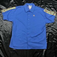 Vintage Adidas Bowling Shirt Button Shirt Short Sleeve Men's Xl